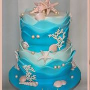 Waves Wedding cake