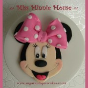 Minnie Mouse Fondant Cake Topper