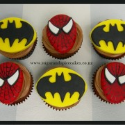 Batman Spiderman Cupcakes