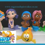bubble guppies cake toppers