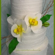 Rustic Orchid Wedding Cake $550