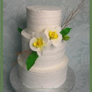 Orchid Wedding cake $550
