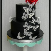 Wafer Paper Butterflies Cake $225