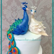 Peacock Wedding cake $600