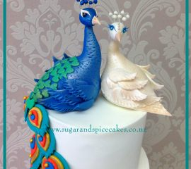 peacock-wedding-cake
