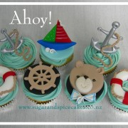 Teddy Sailor Nautical Cupcakes