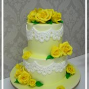 Sunshine and Lace wedding cake