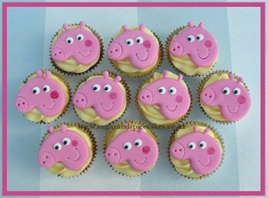 peppa pig cupcakes toppers