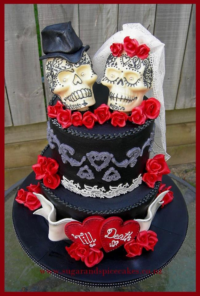 sugar skull wedding cake cakes wedding sugar and spice celebration cakes auckland 20588